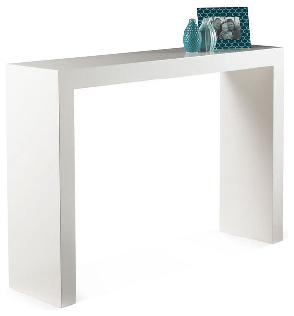 Cabin Console Table White Lacquer Contemporary