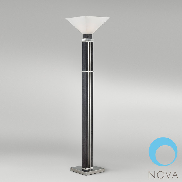 Attitude torchiere lamp nova modern floor lamps for Contemporary torchiere floor lamps