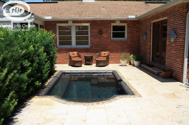 Designs for small spaces traditional jacksonville by pools by john clarkson - Pool designs for small spaces ...