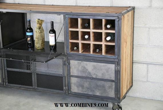 Liquor Cabinet/Bar Modern/Industrial. Reclaimed Wood. Custom