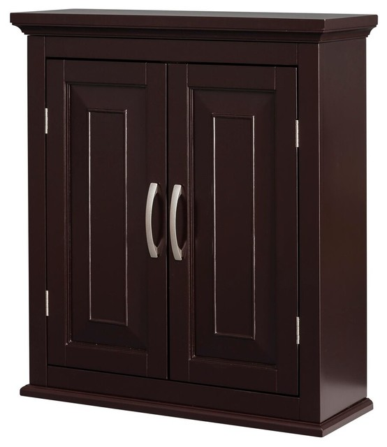 Helena Double Door Wall Cabinet Traditional Bathroom Cabinets And Shelves