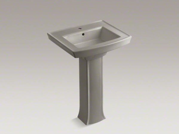 pedestal bathroom sink with single faucet hole contemporary bathroom