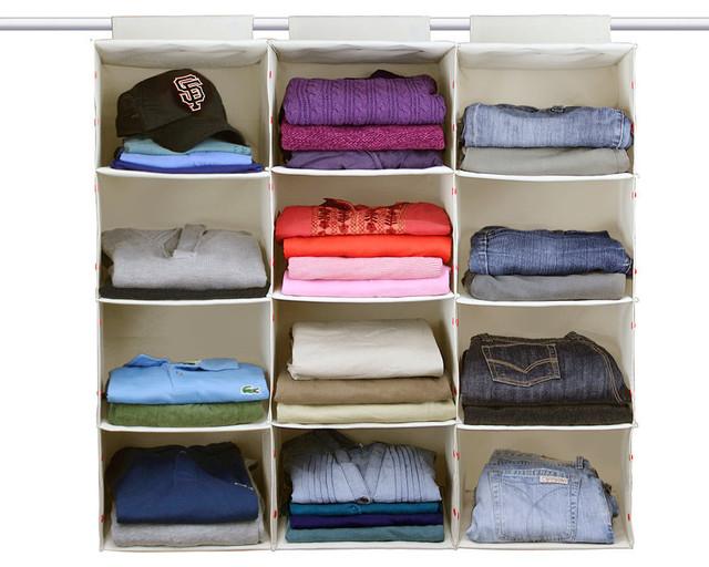 essential hanging 4 shelf closet organizer single. Black Bedroom Furniture Sets. Home Design Ideas