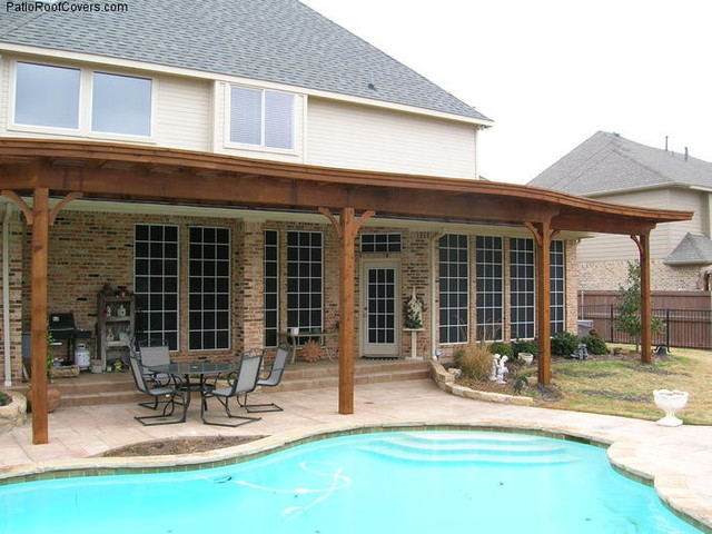 Flat patio covers rustic dallas by deck masters