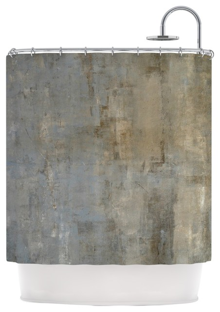 CarolLynn Tice Overlooked Brown Gray Shower Curtain Contemporar