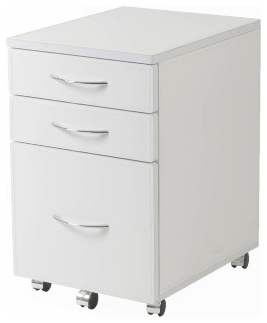 ... Leather & Chrome - Contemporary - Filing Cabinets - by eFurniture Mart