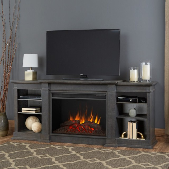 Real Flame Eliot Grand Entertainment Center Electric