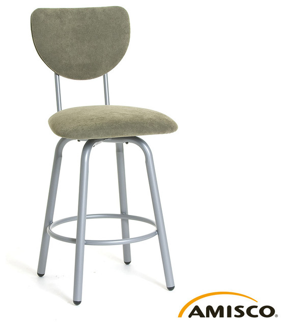 Amisco Jason Swivel Stool Modern Bar Stools And