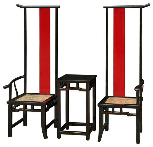 yin yang chairs set of 2 asian living room