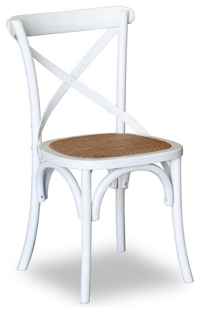cross back chair white traditional dining chairs brisbane by. Black Bedroom Furniture Sets. Home Design Ideas