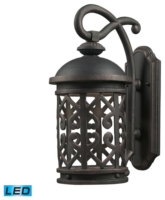External Wall Lights Traditional : Elk Lighting 42362/1 1 Light Outdoor SconceTuscany Coast Collection - Traditional - Outdoor Wall ...