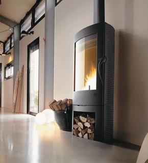 Invicta argos wood burning stove - Contemporary wood furniture burning fireplaces ...