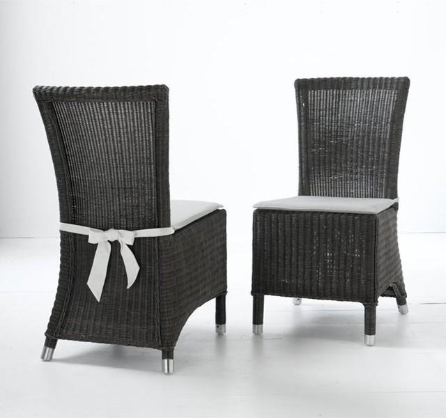 Chaises lot de 2 authentic style contemporain for La redoute chaises de salle a manger