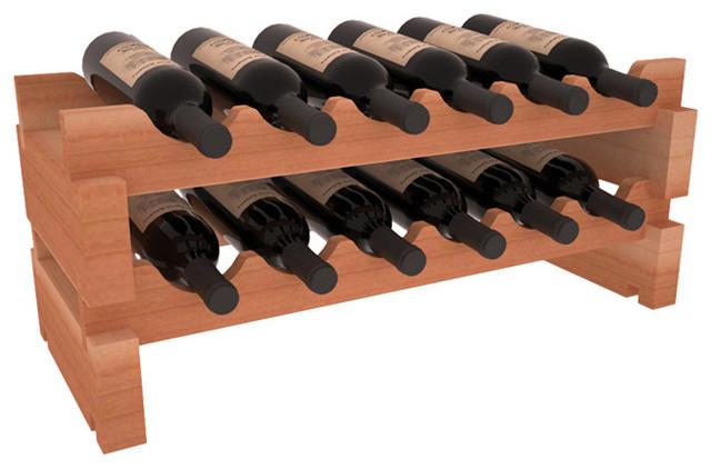Wooden 12 Wine Bottle Mini Scalloped Kitchen Storage Wine Rack - Contemporary - Wine Racks - by ...