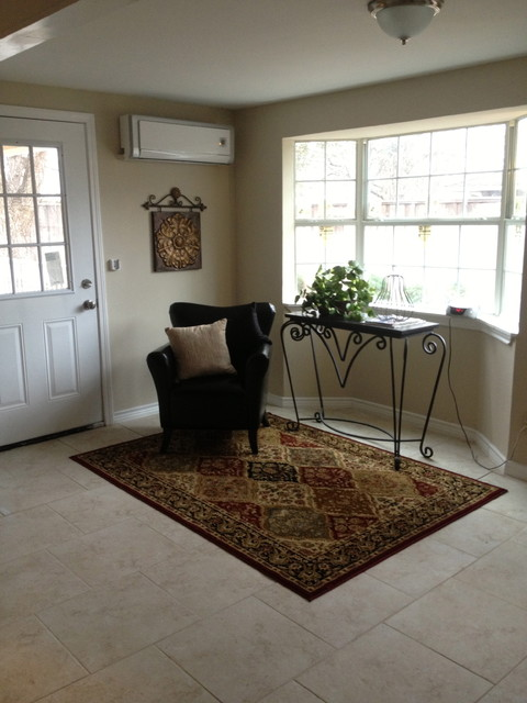 staged homes traditional entry dallas by model my