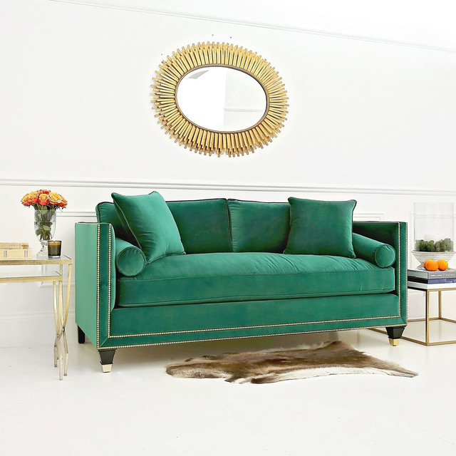 Emerald Green Hatfield Sofa Contemporary Sofas London By Sweetpea Willow