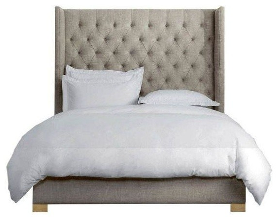 Wayfair Tufted Headboard Bedding Bedroom Transitional With: Cal King Size Transitional-beds