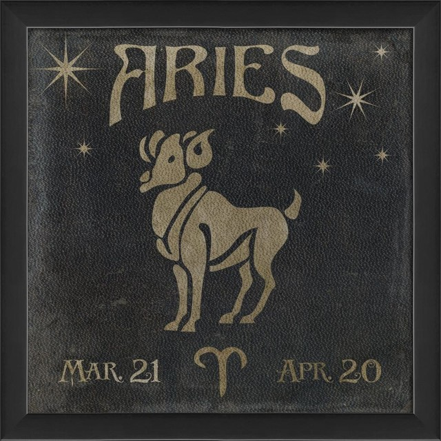 Aries Framed Poster - Contemporary - Prints And Posters - by The Artwork Factory