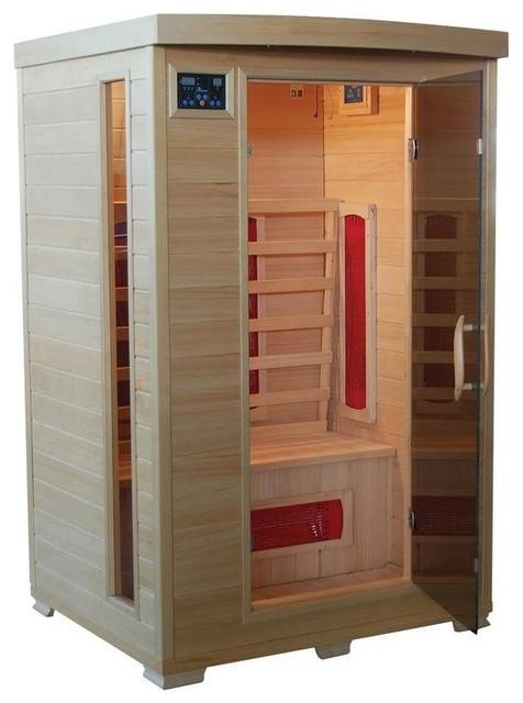 Mountain Ridge Saunas & Steam Units 2-Person Ceramic Heater Far Infrared Sauna - Contemporary ...
