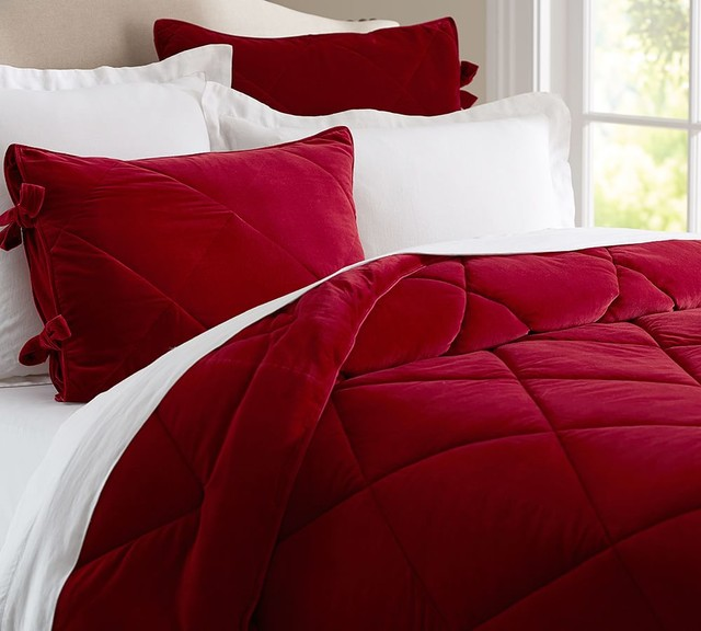 Velvet Comforter Amp Sham Contemporary Comforters And