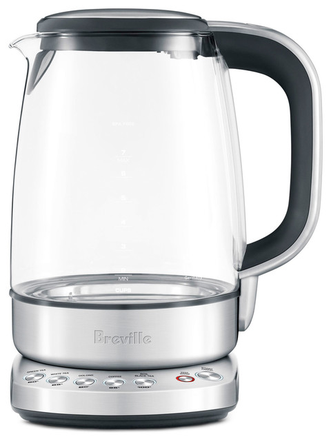 Breville Electric Tea Kettle ~ Breville bke the smart crystal clear kettle glass
