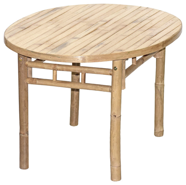 Bamboo Oval Coffee Table Beach Style Coffee Tables By Bamboo54