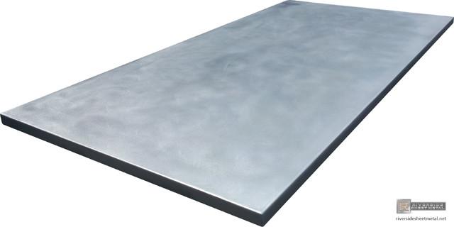 Zinc counter tops cambridge modern kitchen benchtops for Zinc countertop cost
