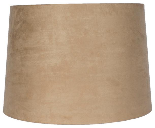 urbanest 14 suede hardback lamp shade tan contemporain. Black Bedroom Furniture Sets. Home Design Ideas