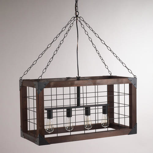 Rectangular Farmhouse Pendant Lamp Industrial Pendant