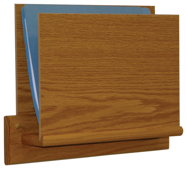 Single Open End Letter Size File Holder - Square Mount, Light Oak - Craftsman - Filing Cabinets ...