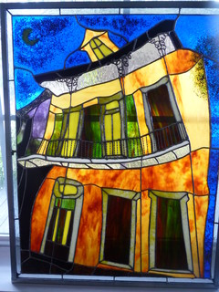 Mixed Media Glass Art New Orleans Style