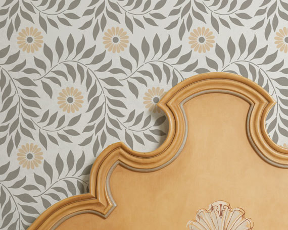 wall stencil allover indian floral by royal design stencils contemporary wall stencils