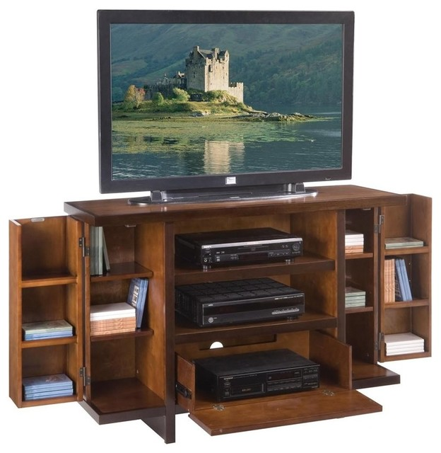 Deluxe TV Cabinet and Entertainment Center - Contemporary - Entertainment Centers And Tv Stands