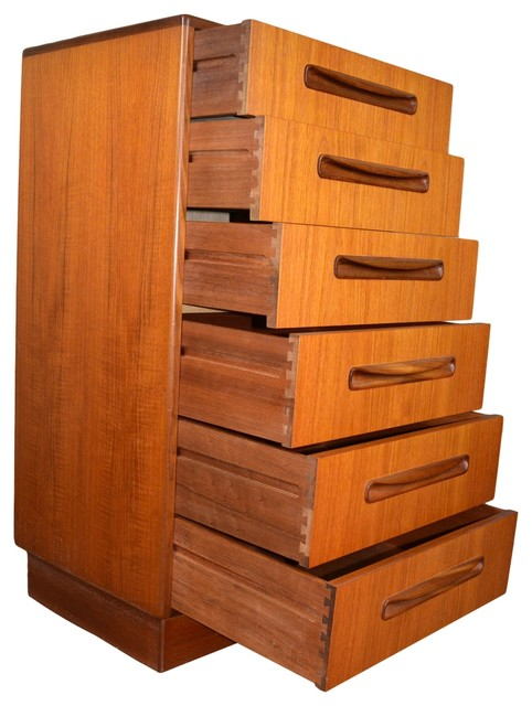 Mid century 7 piece teak bedroom set by g plan for G plan bedroom furniture