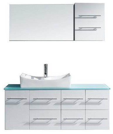 Virtu Ceanna 55 Inch Single Bathroom Vanity Contemporary