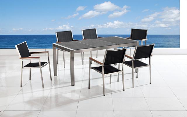 Outdoor furniture moderno mesas de comedor para for Mesas de comedor para exterior