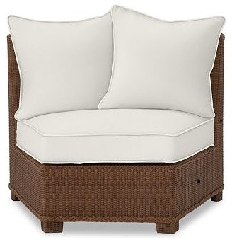 Palmetto All Weather Wicker Rounded Armless Chair Cushion