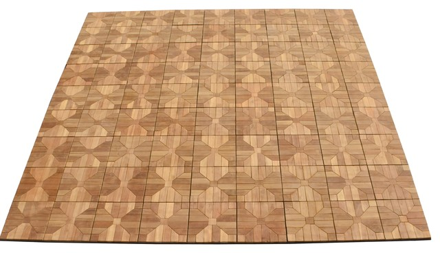 Teak Deck Tiles 12 X Outdoor Patio Interlocking Diy Box