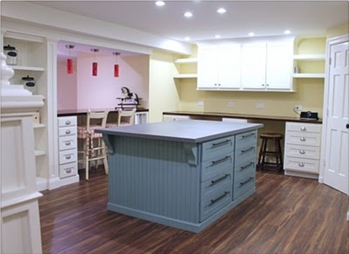 Where can I buy a large island/table with storage for my crafts room?