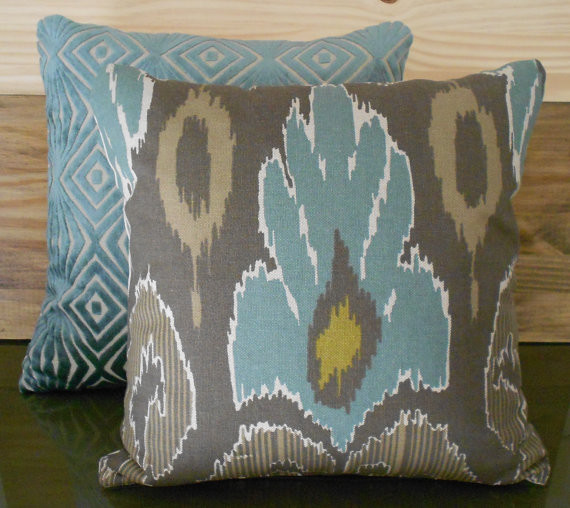 Ikat Decorative Pillow Cover by Pillow Flight - Contemporary - Decorative Pillows - by Etsy