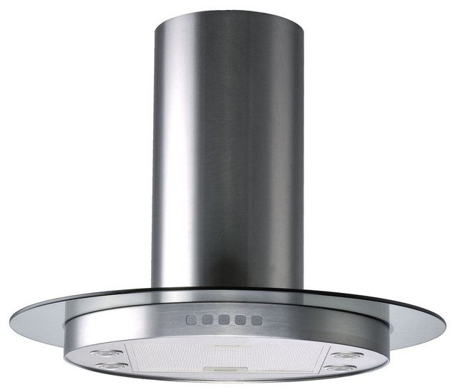 ... Hood With Tempered Glass, Stainless Steel modern-range-hoods-and-vents