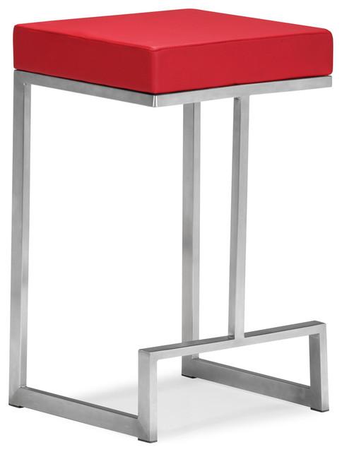 Zuo Darwen Counter Chair Black Set Of 2 Modern Bar