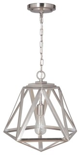 Cosmo Cage Light With Recessed Light Conversaion Kit, Brushed Nickel