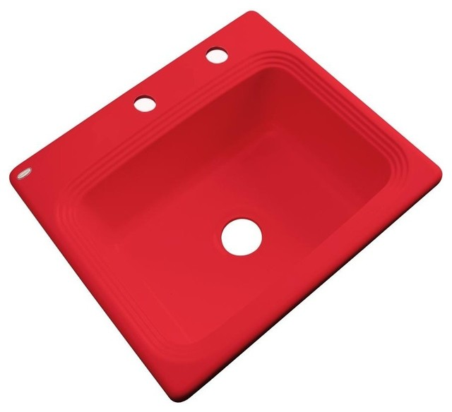 Red Kitchen Sink : Vancouver 2-Hole Kitchen Sink, Red - Transitional - Kitchen Sinks - by ...