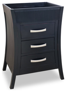 Lyn Design Vantwo Black Vanity Without Top Traditional Bathroom Vanities And Sink Consoles