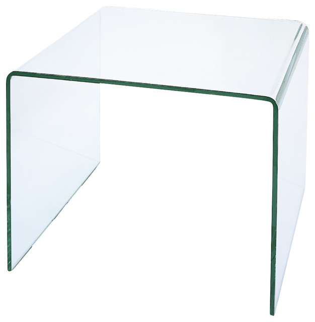 Square Glass Cocktail Table Contemporary Coffee Tables