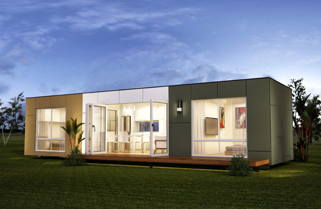 San marino two bedroom prefab container home modern prefab studios brisbane by nova deko - Container homes queensland ...