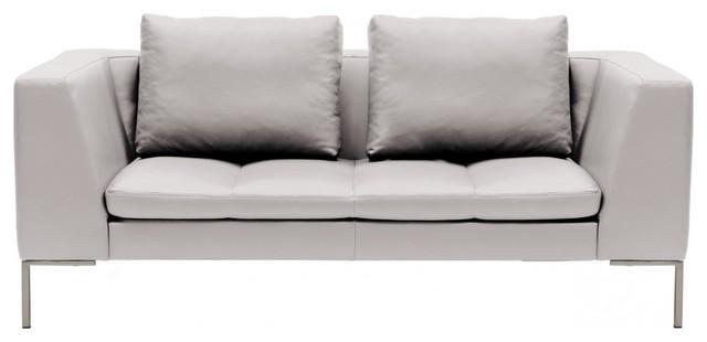 2 sitzer sofa madison semi anilinleder hellgrau modern sofas by fashion4home gmbh. Black Bedroom Furniture Sets. Home Design Ideas