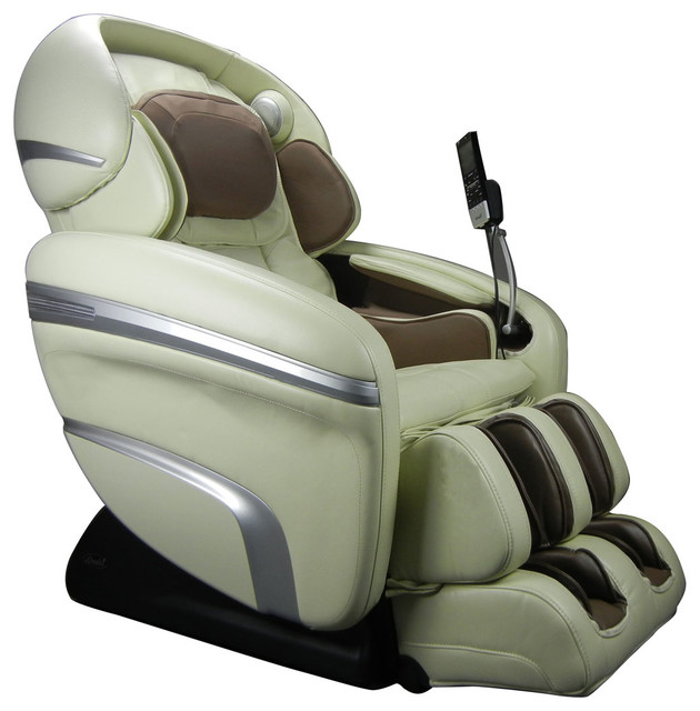 Madrid Taupe Beige Ultra Modern Living Room Furniture 3: Osaki OS-7200CR Zero Gravity Massage Chair In Cream And