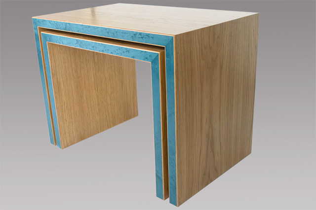 Contemporary nesting tables contemporary coffee table for Modern nest of coffee tables